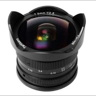 7 Artisans 7.5mm F2.8 Lens for Fuji,m4/3,Sony