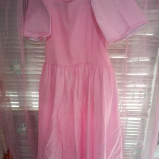 Filipiniana pink dress