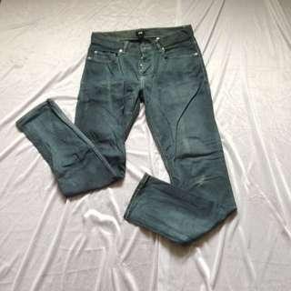 H&M Teal Slim Fit Pants