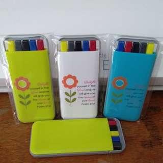 Pen Set (Pen,Pencil,Highlighter)