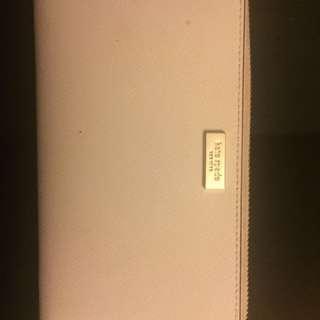 Cream Kate Spade Wallet