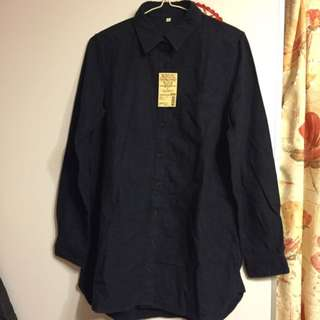 new* MUJI navy shirt size L with tag