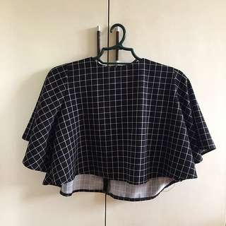 Checkered crop top