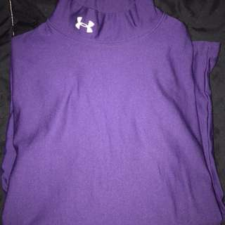 Under armour long sleeve purple workout shirt size medium