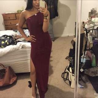 Asymmetric Formal Dress with Slit