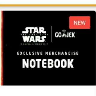 Exclusive starwars notebook