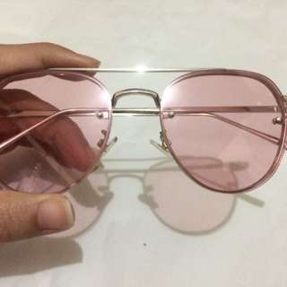 Lily + Jones Rose Colored Sunglasses