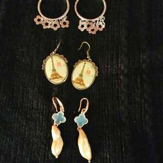 Dangling Earrings ( 3 pairs )