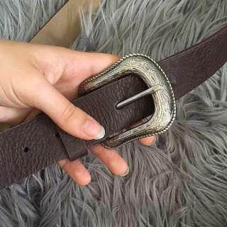 Western Buckle brown belt