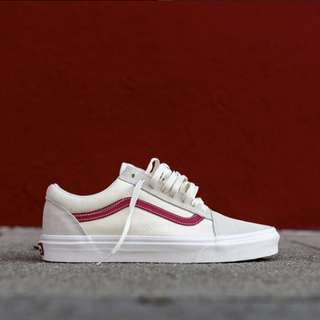 [LIMITED] Vans Old Skool Marshmallow Vintage Red