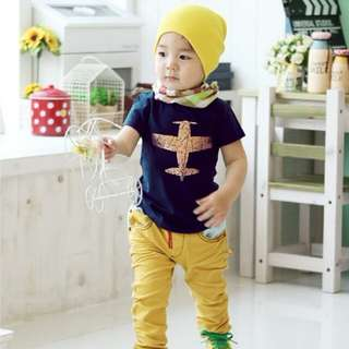 Baby Boy Cotton Short Sleeves T-Shirts 🍀