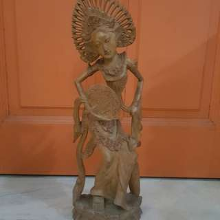 *RESERVED* Wooden Decor Bali statue