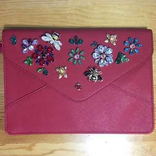 Embellished Handbag - clutch