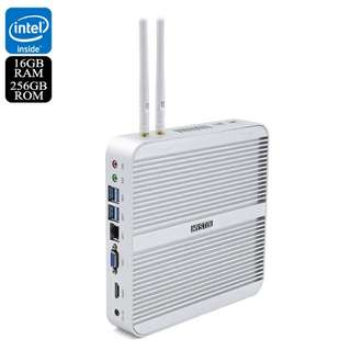 Hystou FMP03 Barebones Mini PC - i5-5200U Processor, 16GB RAM, 256GB Memory, SATA Support, Licensed Windows 10, Wi-Fi (CVAIA-E862-256GB)