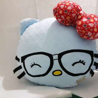 Hello kitty blue plushy pillow