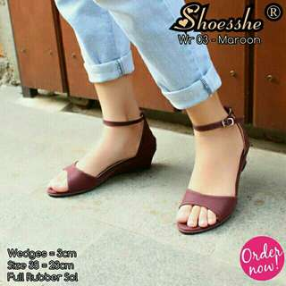 Wedges Angkle Strap,Size 37-40
