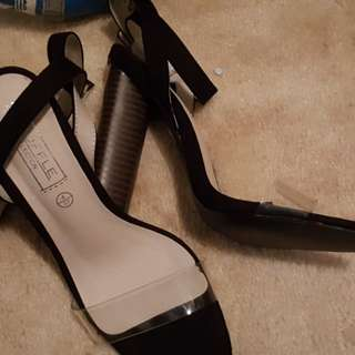 Brand new clear strap heels from Boohoo