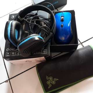 Take all mouse dan headset gaming