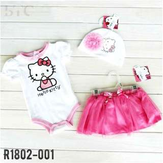 [READY STOCK]  🌸 Hello Kitty Romper Set