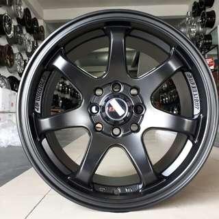 Velg HSR GTR sport R15x7 h4/100-114,3 black.