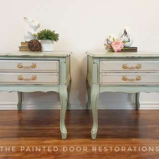 French Provincial Side Tables/Night Stands