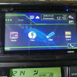 Toyota dvd player oem plug in vios,wish,estima,vellfire,myvi player mp5,bluetooth,tv,dvd