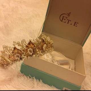 超美 會亮燈金色珠寶頭飾