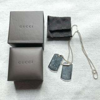 Classic Gucci dogtag necklace