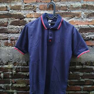 Polo shirt inspired navy blue size M