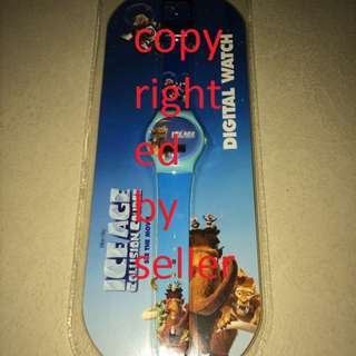 Brand New Ice Age Collision Course Digital Watch Collectible
