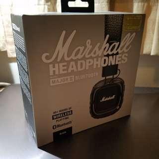 全新 Marshall Major 2 Bluetooth 藍牙無線頭戴式耳機