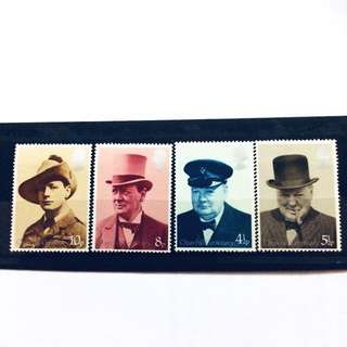 Mint Churchill UK Stamps
