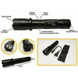 Rechargeable Police Flashlight w/ Stungun Teaser