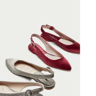Authentic Zara flats (w/ freebie)