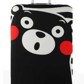 ulzzang 原宿熊本熊彈性加厚耐磨拉桿行李箱防塵套 18-20吋可使用