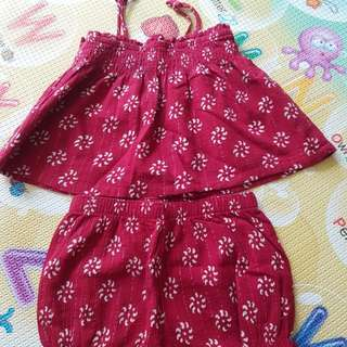 Baby Girl's Baby Bloomers (2pc Set-12 to 18 mths)