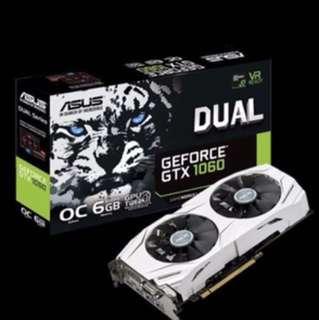 (Ready stock )Asus Dual GTX1060 6Gb