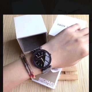 正品MICHAEL KORS手錶MK3337薄型晶鑽百搭不銹鋼錶帶腕錶/女錶/情人節禮物/生日