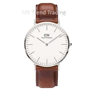 [AUTHENTIC] DANIEL WELLINGTON CLASSIC ST MAWES 36MM Silver [2 YEARS WARRANTY]