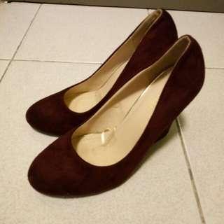 Parisian Velvet Wedge Shoes