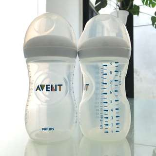 PHILIPS AVENT Natural 260ml/9oz Nursing Bottles without Teats