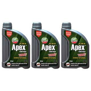 Pertua Apex Synthetic Performance Gasoline Engine Oil SAE 15W/50 1L Bundle of 3