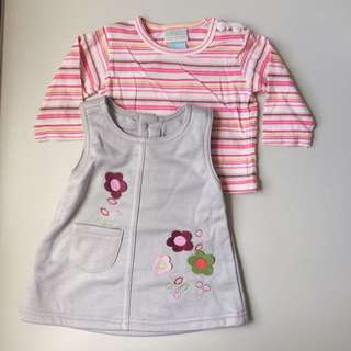 0 to 9 Months 2 Piece Dress Set