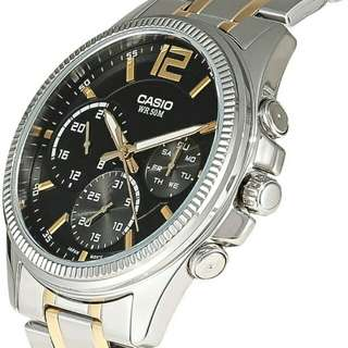 👀👀👀6折全新行貨卡西歐防水男装行針鋼錶-40% Off Brand New Original Casio Water Resistance Men Analog Metal Watch