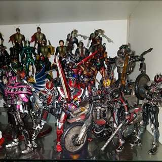 Over 50 SIC Masked Kamen rider 1 2 v3 black rx decade den-o ryuki ryuga and more sale