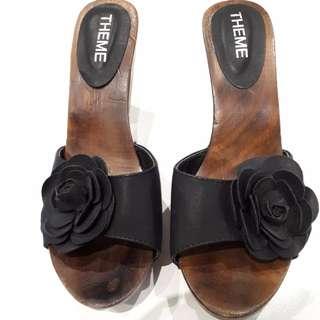 Shoes Size 39 Black European style clogs