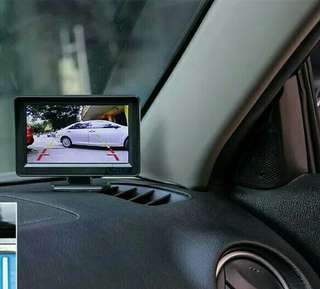 LCD MONITOR With full HD 1080p reverse camera
