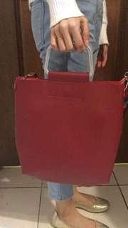 彩虹編織背帶包包