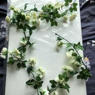 Wedding - White Flower Vine 155cm