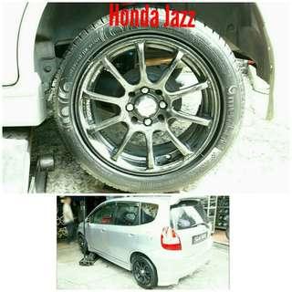 Tyre 195/50 R15 Membat on Honda Jazz 🐓 Super Offer 🙋♂️